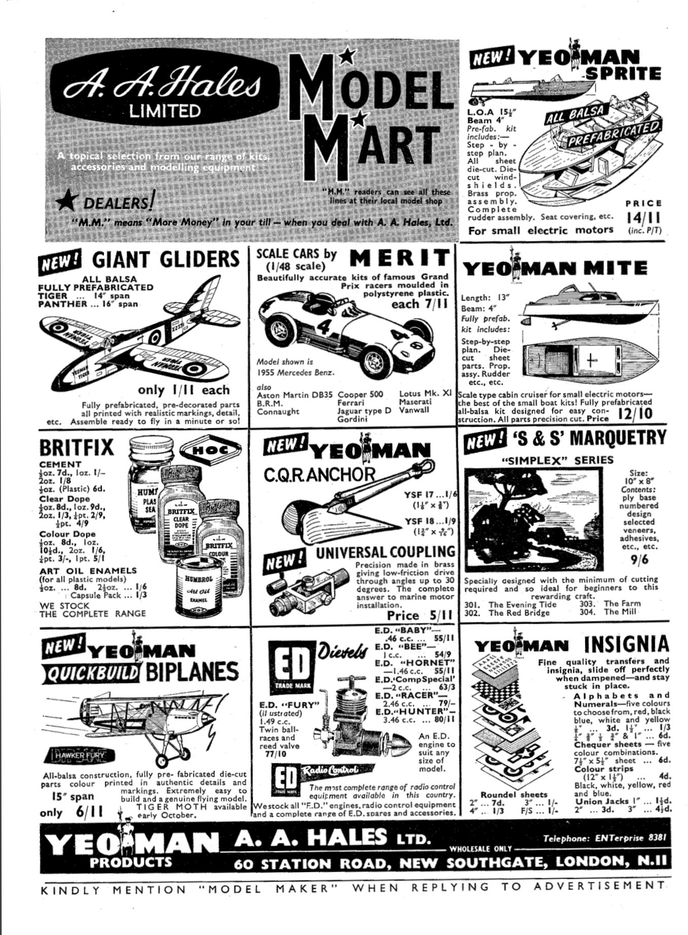 Humbrol tin evolution an exercise in modelling history airfix may 1959 humbrol ad nvjuhfo Gallery
